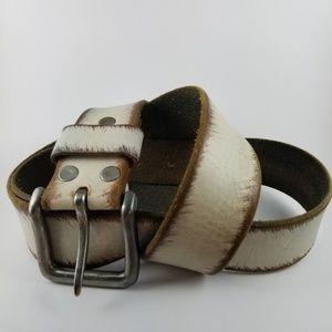 Other - Vintage whitewashed leather belt